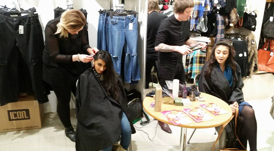 THE EMMA BROWN HAIR POP UP SALON IN TOPSHOP LEICESTER