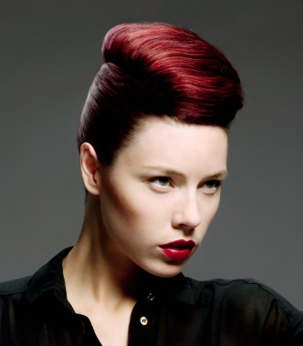 Fiery Quiff Side Fringed Graduated Pixie A Mouth Length Bob